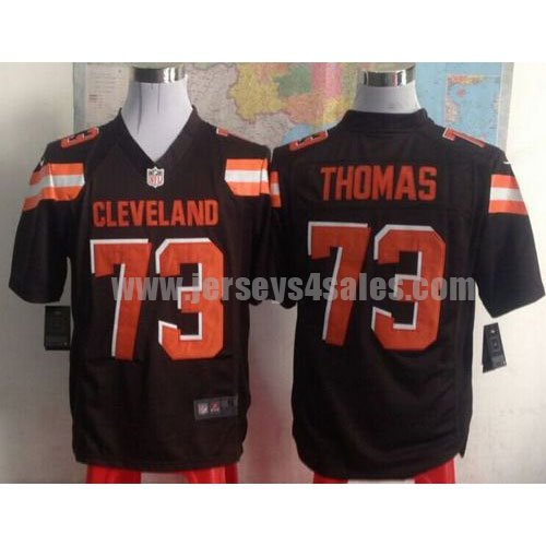 Nike Browns #73 Joe Thomas Brown Team Color Men's Stitched NFL Game Jersey