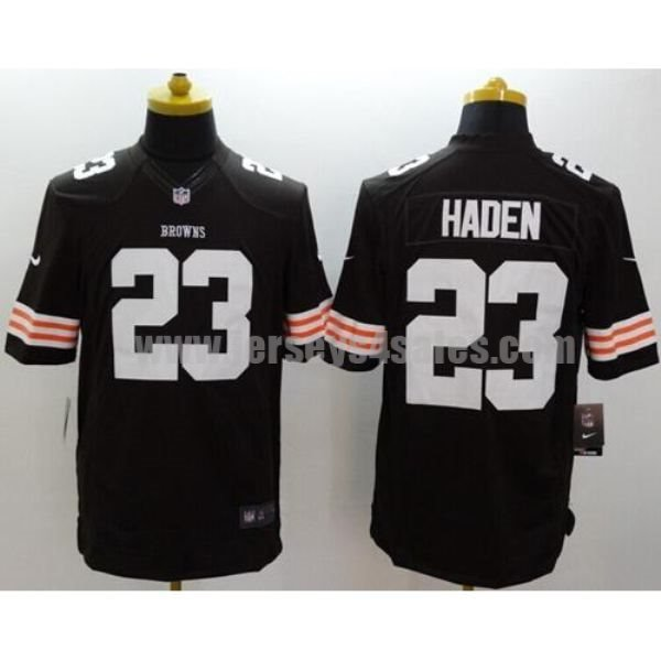 Nike Browns #23 Joe Haden Brown Team Color Men's Stitched NFL Limited Jersey