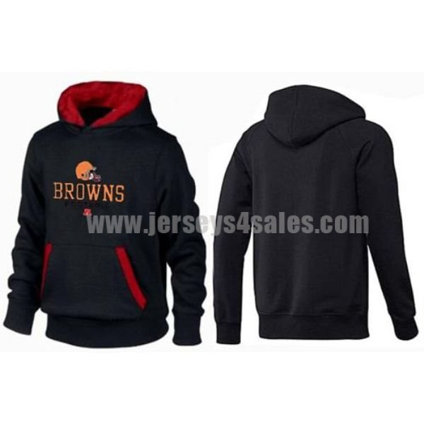 Cleveland Browns Critical Victory Pullover Hoodie Black & Red