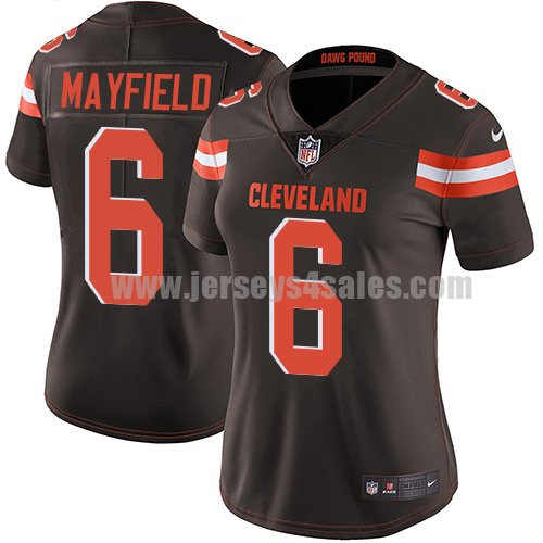 Women's Cleveland Browns #6 Baker Mayfield Brown Nike NFL Vapor Untouchable Limited Jersey