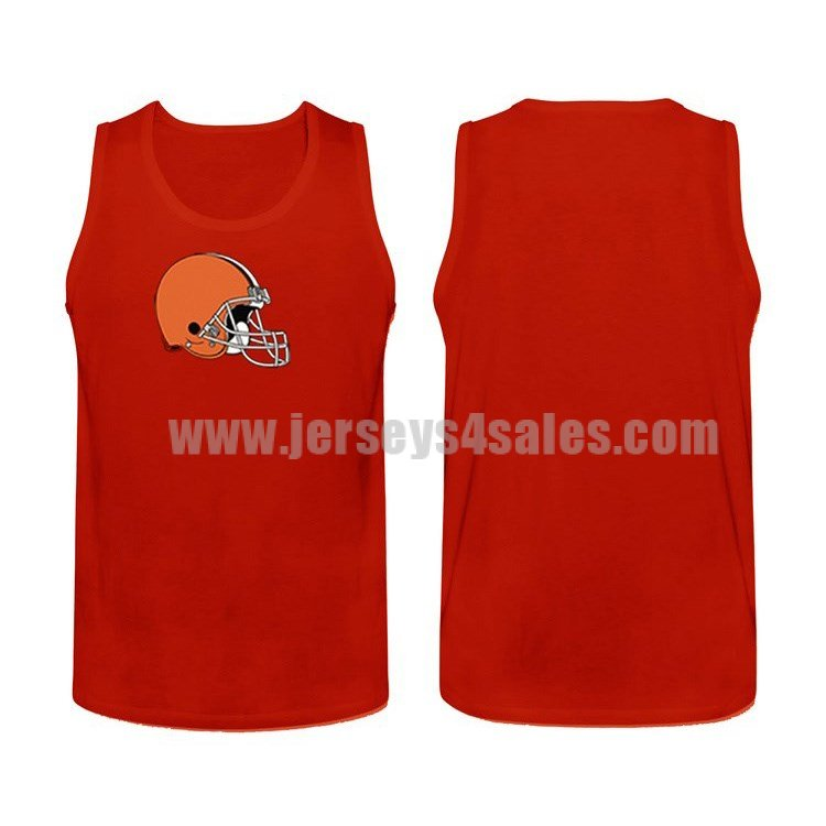 Men's Cleveland Browns Cotton Team Nike NFL Red Tank Top