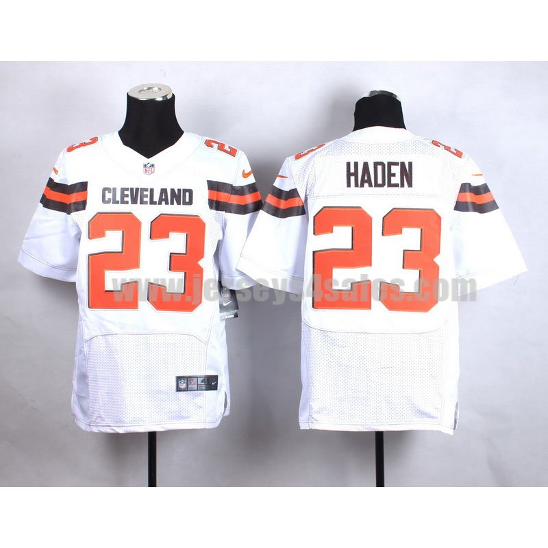 Men's Cleveland Browns #23 Joe Haden White Stitched NFL New Nike Elite Jersey