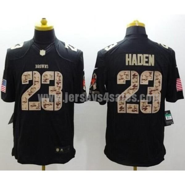 Nike Browns #23 Joe Haden Black Men's Stitched NFL Limited Salute to Service Jersey