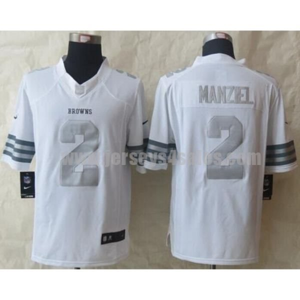 Nike Browns #2 Johnny Manziel White Men's Stitched NFL Limited Platinum Jersey