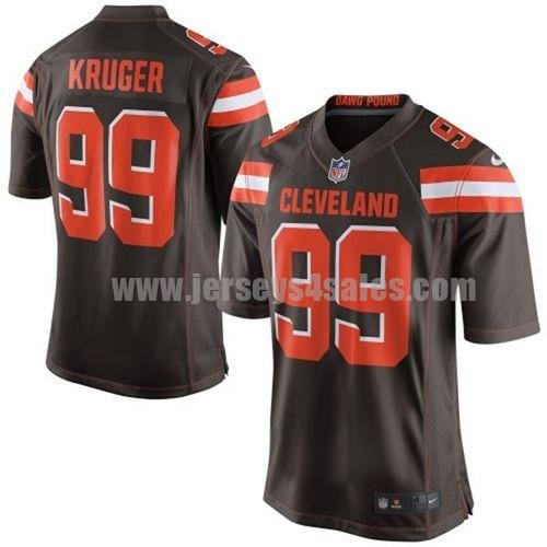 Men's Nike #99 Paul Kruger Brown Team Color NFL Cleveland Browns Stitched New Elite Jersey