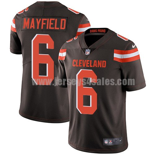 Youth Cleveland Browns #6 Baker Mayfield Brown Nike NFL Vapor Untouchable Limited Jersey