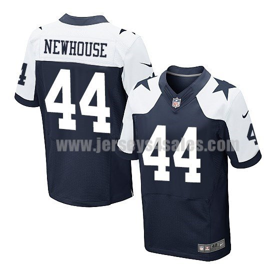 Men's Dallas Cowboys #44 Robert Newhouse Navy Blue Stitched Nike NFL Thanksgiving Elite Jersey