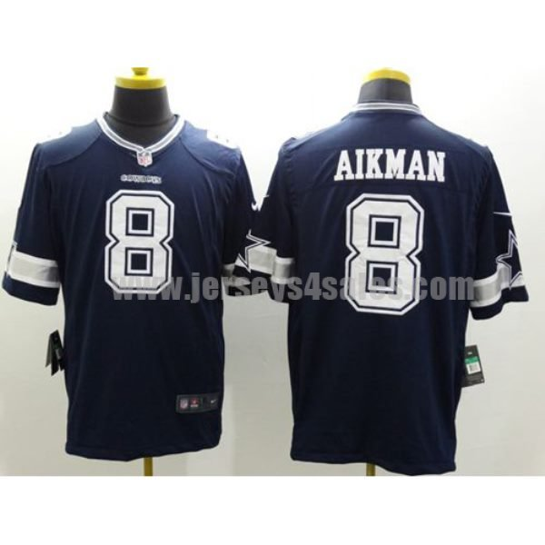 Nike Cowboys #8 Troy Aikman Navy Blue Team Color Men's Stitched NFL Limited Jersey
