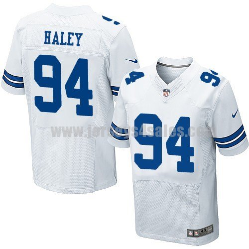 Men's Dallas Cowboys #94 Charles Haley White Stitched Nike NFL Road Elite Jersey