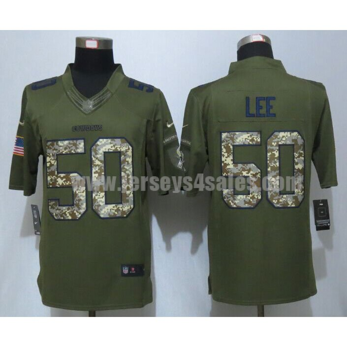 Men's Dallas Cowboys #50 Sean Lee Green Stitched Nike NFL Salute To Service Limited Jersey