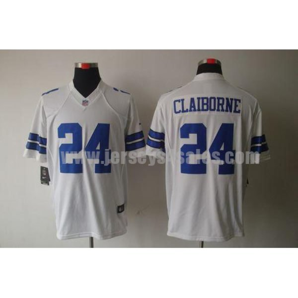 Nike Cowboys #24 Morris Claiborne White Men's Stitched NFL Limited Jersey