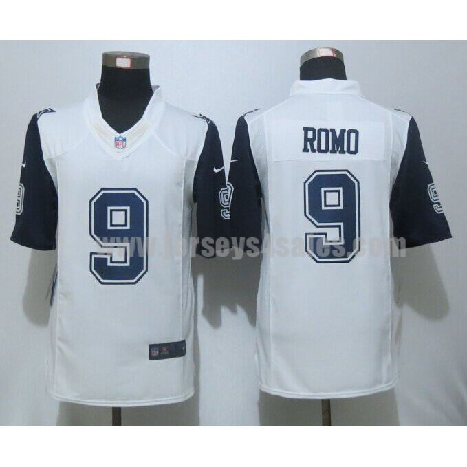 Men's Dallas Cowboys #9 Tony Romo White Stitched Nike NFL Color Rush Limited Jersey