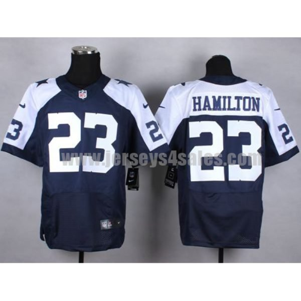 Nike Cowboys #23 Jakar Hamilton Navy Blue Thanksgiving Throwback Men's Stitched NFL Elite Jersey
