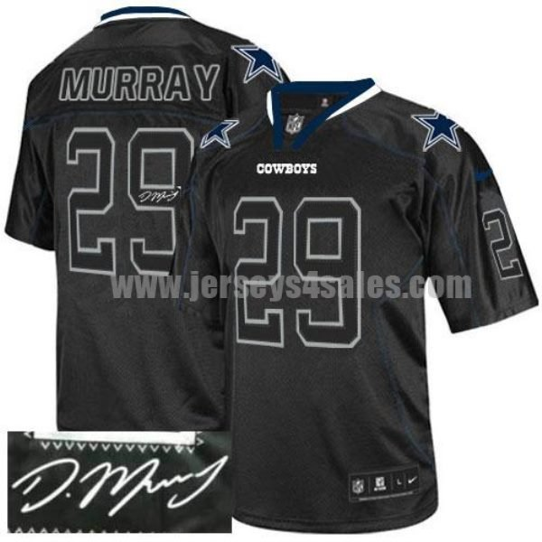 Nike Cowboys #29 DeMarco Murray Lights Out Black Men's Stitched NFL Elite Autographed Jersey