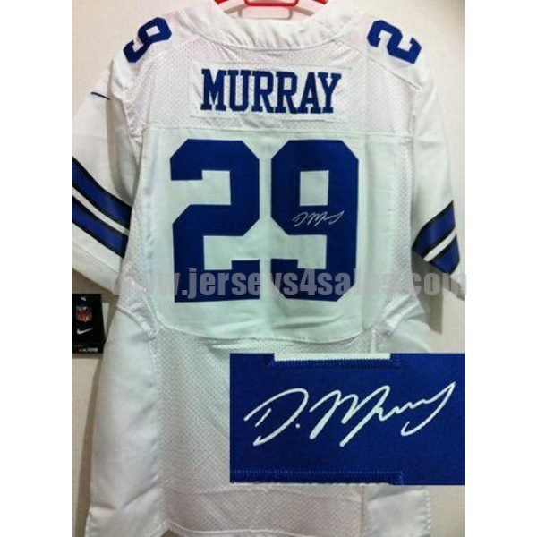 Nike Cowboys #29 DeMarco Murray White Men's Stitched NFL Elite Autographed Jersey