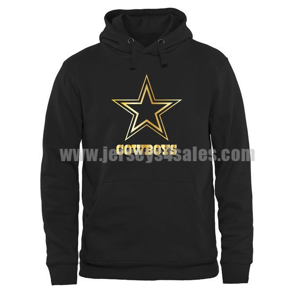 Men's Dallas Cowboys Pro Line Black Gold Collection Pullover NFL Hoodie