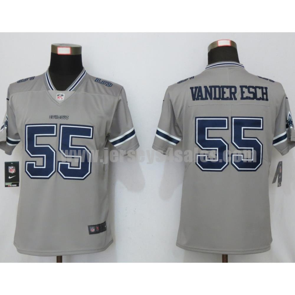 Women's Dallas Cowboys #55 Leighton Vander Esch Nike Gray Inverted Legend Jersey