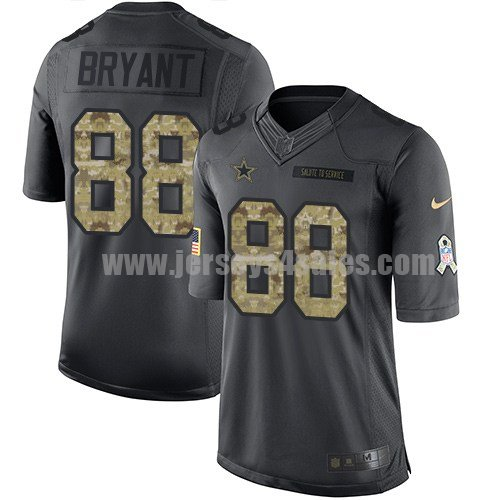 Men's Dallas Cowboys #88 Dez Bryant Anthracite Stitched Nike NFL 2016 Salute To Service Limited Jersey