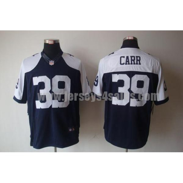 Nike Cowboys #39 Brandon Carr Navy Blue Thanksgiving Men's Throwback Stitched NFL Limited Jersey