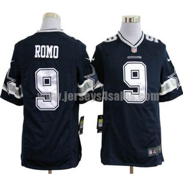 Nike Cowboys #9 Tony Romo Navy Blue Team Color Men's Stitched NFL Game Jersey