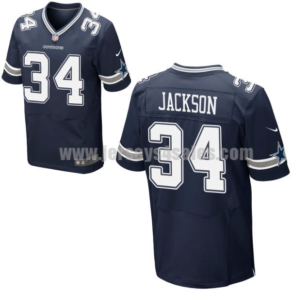 Men's Dallas Cowboys #34 Darius Jackson Navy Blue Stitched Nike NFL Home Elite Jersey