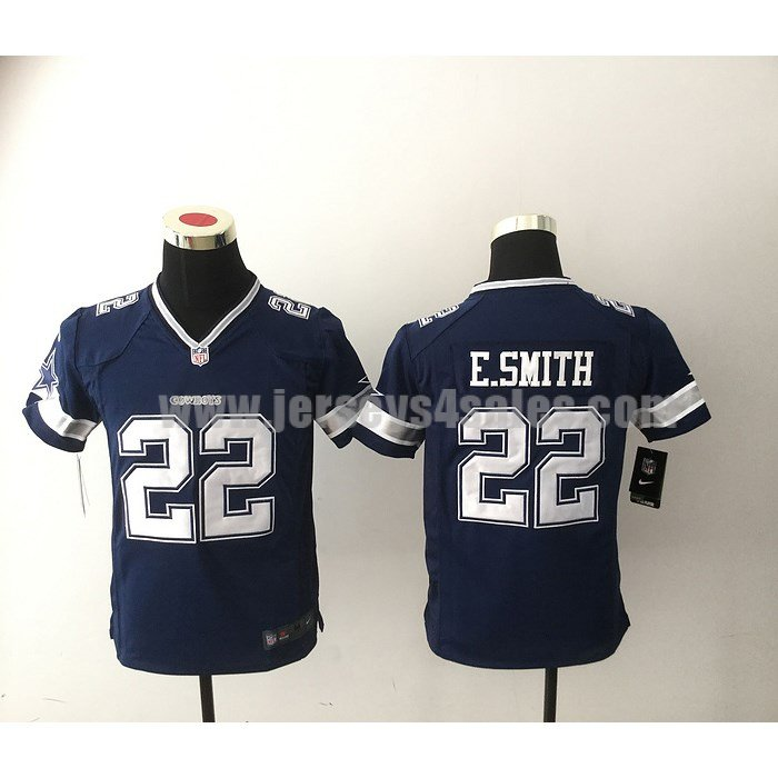 Youth Dallas Cowboys #22 Emmitt Smith Navy Blue Nike NFL Home Game Jersey