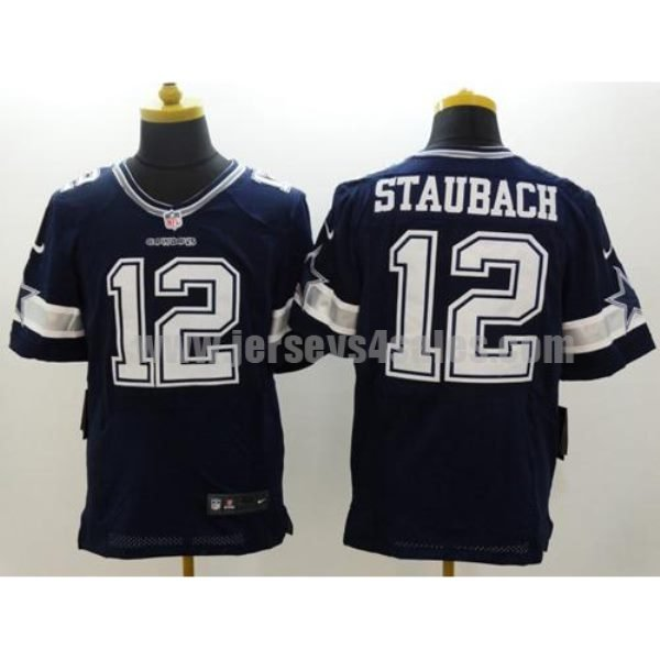 Nike Cowboys #12 Roger Staubach Navy Blue Team Color Men's Stitched NFL Elite Jersey