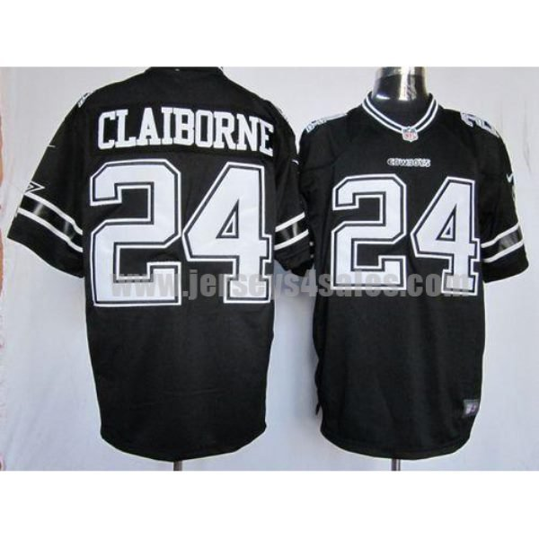 Nike Cowboys #24 Morris Claiborne Black Shadow Men's Stitched NFL Game Jersey