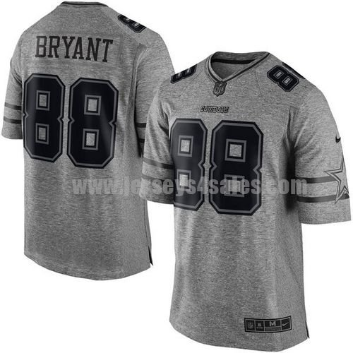 Men's Dallas Cowboys #88 Dez Bryant Grey Stitched Nike NFL Gridiron Gray Limited Jersey