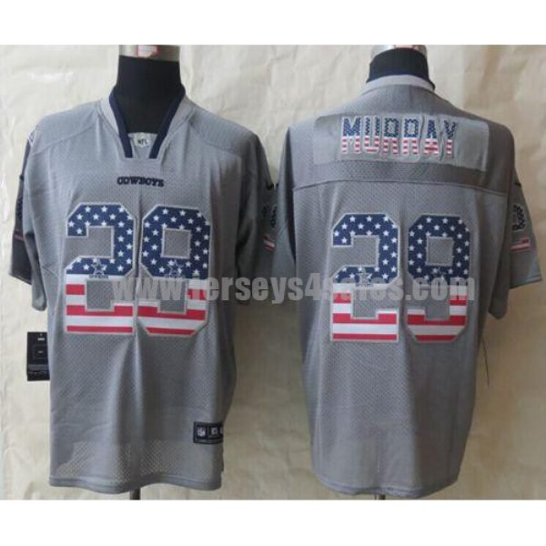 Nike Cowboys #29 DeMarco Murray Grey Men's Stitched NFL Elite USA Flag Fashion Jersey