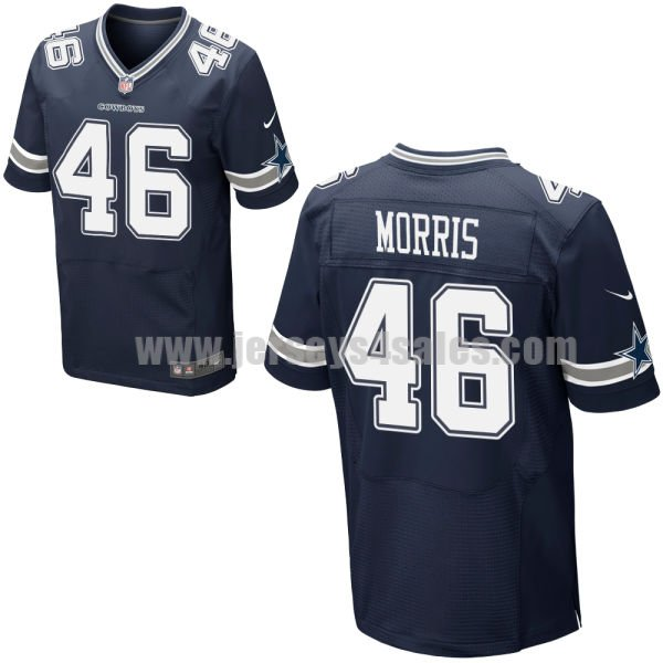 Men's Dallas Cowboys #46 Alfred Morris Navy Blue Stitched Nike NFL Home Elite Jersey