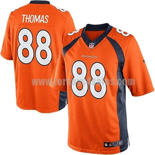 Nike Broncos #88 Demaryius Thomas Orange Team Color Men's Stitched NFL New Limited Jersey