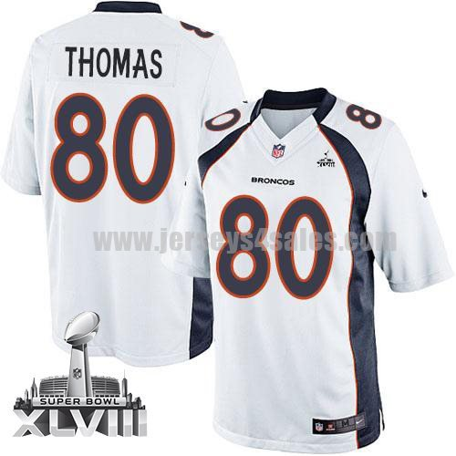 Nike Broncos #80 Julius Thomas White Super Bowl XLVIII Men's Stitched NFL Limited Jersey