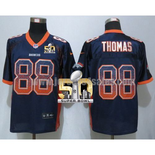 Men's Denver Broncos #88 Demaryius Thomas Navy Blue Stitched Super Bowl 50 Nike NFL Drift Fashion Elite Jersey