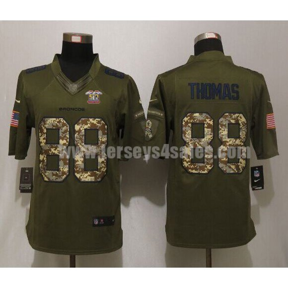Men's Denver Broncos #88 Demaryius Thomas Super Bowl 50 Champions Green Stitched Nike NFL Salute To Service Limited Jersey