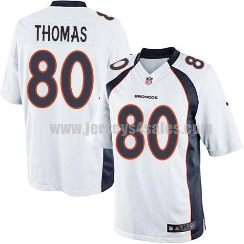 Nike Broncos #80 Julius Thomas White Men's Stitched NFL Limited Jersey