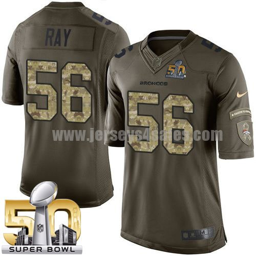 Youth Denver Broncos #56 Shane Ray Green Stitched Super Bowl 50 Nike NFL Salute To Service Limited Jersey