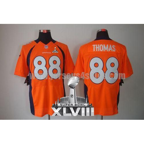 Nike Broncos #88 Demaryius Thomas Orange Team Color Super Bowl XLVIII Men's Stitched NFL Elite Jersey