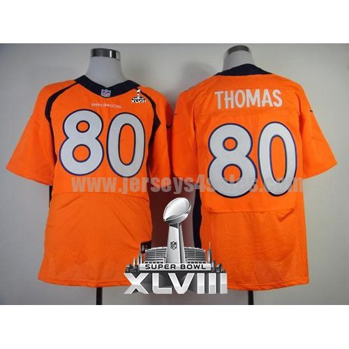 Nike Broncos #80 Julius Thomas Orange Team Color Super Bowl XLVIII Men's Stitched NFL New Elite Jersey
