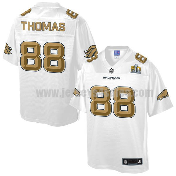 Youth Denver Broncos #88 Demaryius Thomas White Pro Line NFL Super Bowl 50 Fashion Jersey