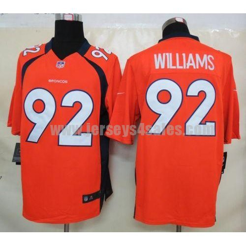 Nike Broncos #92 Sylvester Williams Orange Team Color Men's Stitched NFL Limited Jersey