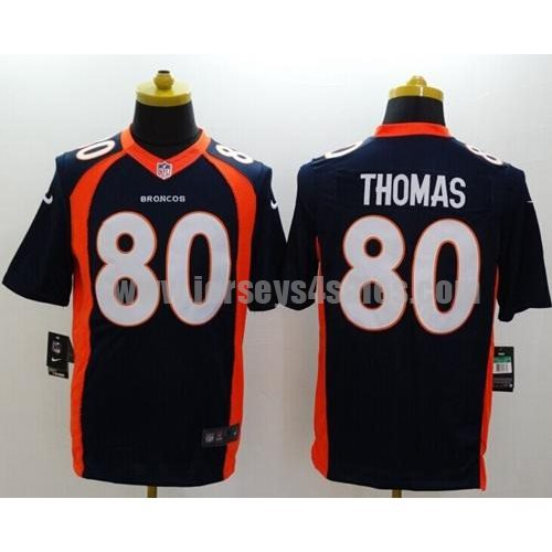 Nike Broncos #80 Julius Thomas Navy Blue Alternate Men's Stitched NFL New Limited Jersey