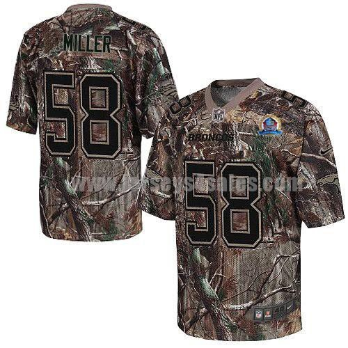 Nike Broncos #58 Von Miller Camo With Hall of Fame 50th Patch Men's Stitched NFL Realtree Elite Jersey