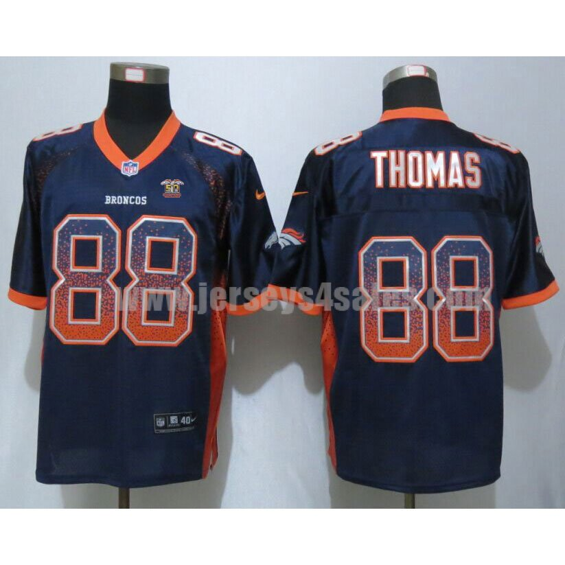 Men's Denver Broncos #88 Demaryius Thomas Super Bowl 50 Champions Navy Blue Alternate Stitched Nike NFL Drift Fashion Elite Jersey