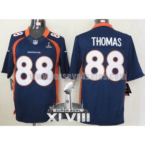 Nike Broncos #88 Demaryius Thomas Navy Blue Alternate Super Bowl XLVIII Men's Stitched NFL Limited Jersey
