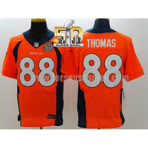 Men's Denver Broncos #88 Demaryius Thomas Orange Stitched Super Bowl 50 Nike NFL Home Elite Jersey