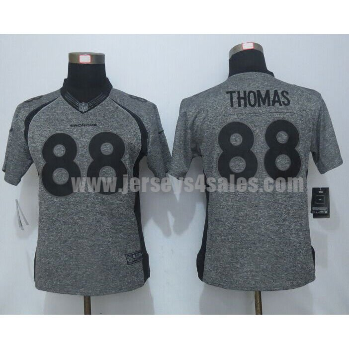 Women's Denver Broncos #88 Demaryius Thomas Grey Stitched Nike NFL Gridiron Gray Limited Jersey