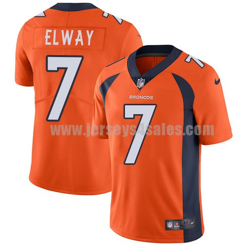 Men's Denver Broncos #7 John Elway Orange Nike NFL Vapor Untouchable Limited Jersey