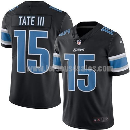 Men's Detroit Lions #15 Golden Tate III Black Stitched Nike NFL Color Rush Limited Jersey