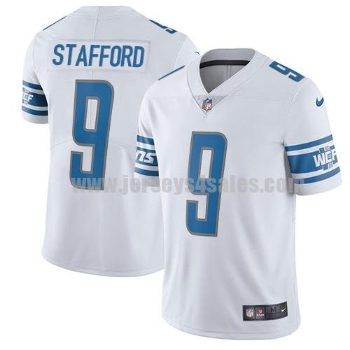 Men's Detroit Lions #9 Matthew Stafford White Nike NFL 2017 Limited Jersey